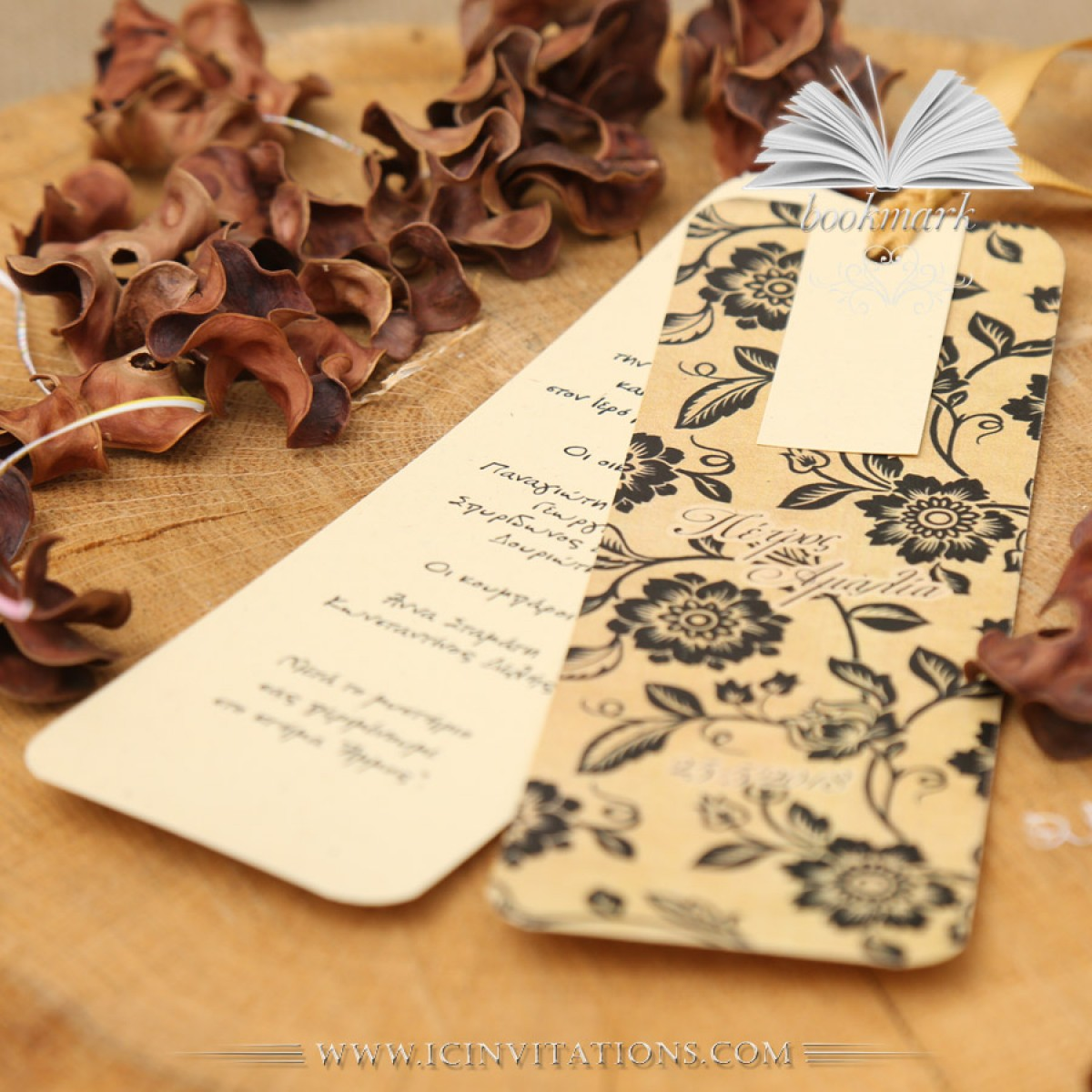 wedding invitation bookmark gx098 vintage 2018 ic invitations